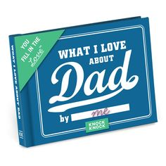 Fill in the blanks to describe why your pops is tops. Just complete each line and voilà: you have a uniquely personal gift he'll read again and again. Sweet personalized gift that'll please dads of all stripes.