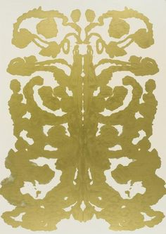 "Andy Warhol - Rorschach (1984) Synthetic polymer paint on canvas This painting belongs to a series modeled on the famous ""inkblot"" test invented by the Swiss psychiatrist Hermann Rorschach. Whereas the actual test provides ten standardized blots for..."