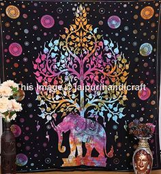 Elephant Tapestries Hippie Tapestry Wall Tapestries Bohemian Tapestries Psychedelic Celestial Elephant Tree Tapestry wall hanging indian tapestries mandala tapestries -- Check out the image by visiting the link. Tie Dye Tapestry, Bohemian Tapestry, Indian Tapestry, Mandala Tapestry, Tapestry Wall Hanging, Bohemian Decor, Tapestry Floral, Elephant Home Decor, Elephant Wall Art