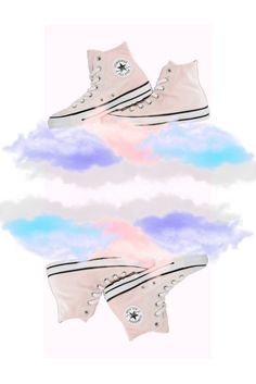 Converse All Star Hi trainers in arctic pink with free UK delivery. Pastel Shoes, Powder Pink, Converse All Star, Pink Color, Baby Blue, Trainers, Cloud, High Top Sneakers, Fabric