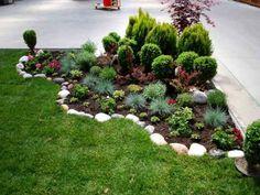Cheap Landscaping Ideas, Cheap Backyard Makeover Ideas, Landscaping With Rocks, Front Yard Landscaping, Corner Landscaping Ideas, Mulch Landscaping, Landscaping Calgary, Beautiful Home Gardens, Garden Yard Ideas