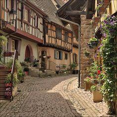 Eguisheim , A medieval village in France, near Colmar