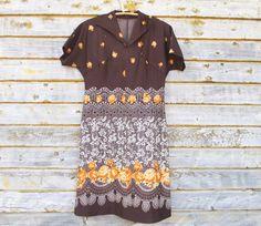 Vintage Dress Women's Clothing US Size 12 EU 42 by MerilinsRetro