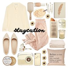 """Cozy Staycation Style"" by helenevlacho ❤ liked on Polyvore featuring H&M, STELLA McCARTNEY, ASOS, Nip+Fab, Martha Stewart, Toast, mae, abcDNA, Philip Kingsley and Essie"