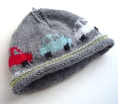 Ravelry: Little Cars Beanie Hat (in-the round) pattern by Little Pickle Knits