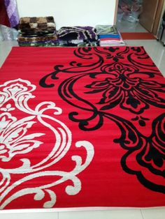 19007 Red Decor, Black Bedroom, Rugs, Remodel, Black And Grey Rugs, Grey Rugs, Home Decor, Home Deco, Deco