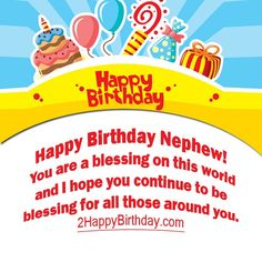 birthday wishes to tell happy birthday to Nephew. Happy Birthday Nephew Images, Birthday Wishes For Grandma, Nephew Birthday Quotes, Birthday Wishes For Sister, Best Birthday Quotes, Happy Birthday Fun, Blessing, Messages, Gallery