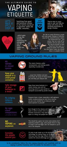 Ultimate Vaping Etiquette Infographic