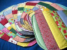 patchwork pot holders - (idea)