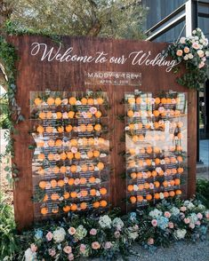 "@blissproductions on Instagram: ""When oranges are a theme in Ojai, you do an orange escort wall! Planning and Design: @blissproductions Venue: @ojaivalleyinn…"""