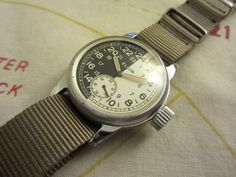 Elgin Military 24 Hours Watch Day Night Dial with Original Case