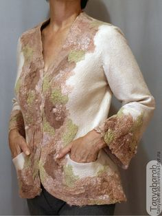 """Пиджаки, жакеты ручной работы. Ярмарка Мастеров - ручная работа Жакет """"Видение розы"""". Handmade."""