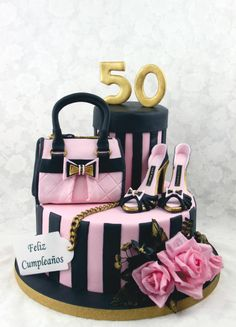Passion for Fashion - Cake by Delicut Cakes Gucci Cake, Chanel Cake, 50th Birthday Cake For Women, Birthday Woman, 50th Birthday Cakes, Birthday Ideas, Shoe Cakes, Cupcake Cakes, Cupcakes