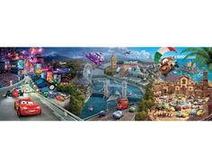 Puzzle Clementoni Cars World de 1000 Piezas