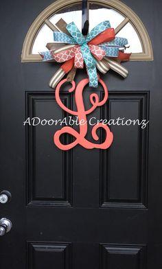 Monogram Letter Door Hanger Monogram Door by ADoorAbleCreationz
