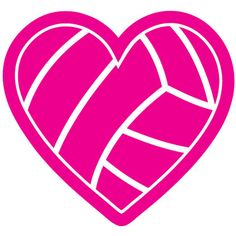 Volleyball Heart Decal