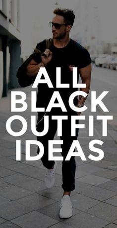 ALL BLACK OUTFIT IDEAS FOR MEN. #mensfashion #fallfashion