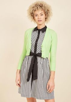 #ModCloth - #ModCloth The Dream of the Crop Cardigan in Highlighter in XXS - AdoreWe.com