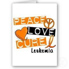 Peace Love Cure Leukemia Cards