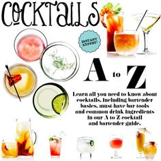 The ABCs of Cocktails #bartending might be fun to learn