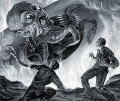 "Ray Harryhausen, ""War of the Worlds"" movie concept drawing,1949."