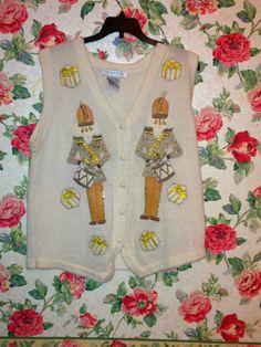 VINTAGE Victoria Jones HOLIDAY Medium Vest by RoseCoveredCloset