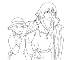 Howl's Moving Castle Tattoo, Howls Moving Castle, Castle Drawing Easy, Naruto Sketch Drawing, Drawing Cartoon Faces, Anime Lineart, Studio Ghibli Art, Anime Character Drawing, Anime Tattoos