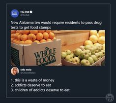 Everyone deserves to eat Alabama Law, Justice Ruth Bader Ginsburg, Food Stamps, How To Get Away, Whole Food Recipes, Eat, Hunger Games, Truths, Politics