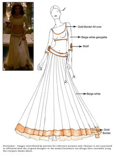 DIY Off White Ram Leela Lehenga