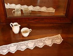 crocheted filet lace trim