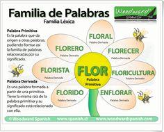 """""""Familia de palabras"""" es una exposición sencilla y clara de """"woodward spanish"""" sobre el tema con esta reveladora infografía."""