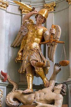Kunst Online, Lion Pictures, Archangel Michael, Blessed Mother, St Michael, Religious Art, Catholic, Sculptures, Classic