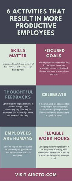 The 6 mantras for being productive. #hr #productivity