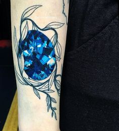 Finished Maddie's gem today, mostly healed. #tattoo #valentinestattooseattle #shannonperry