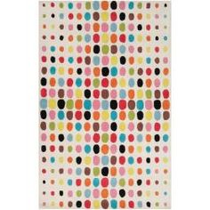 Tepper Jackson Hand-tufted White Bode Wool Rug (5' x 8')  $643  -COLOR INSPIRATION