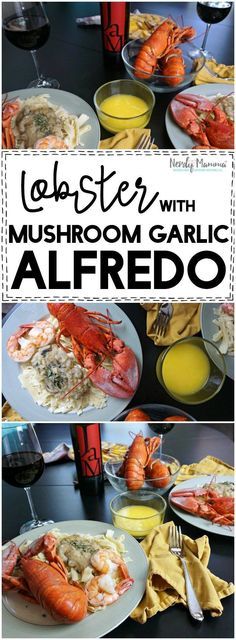 Oooh! This recipe for Lobster with a mushroom and garlic alfredo sauce made without cheese! Sounds amazing! Great vegan and gluten-free recipe (well, except for the lobster, LOL!) || Gluten Free Frenzy