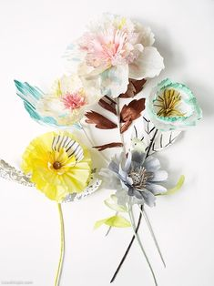 Paper Flowers cute flowers paper diy craft project