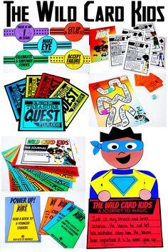 Read The Wild Card Kids Book then have some fun with these activities and games adapted directly for the book!
