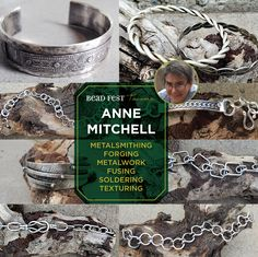 Calling all metalsmithing and silversmithing addicts! Bead Fest Tacoma is your LAST chance to experience one of Anne Mitchell's workshops in 2017. If you want to create a gorgeous piece alongside Anne, reserve your workshop seat NOW before they fill up!  Techniques: Fusing, Metalwork, Riveting, Texturing, Soldering, Forging