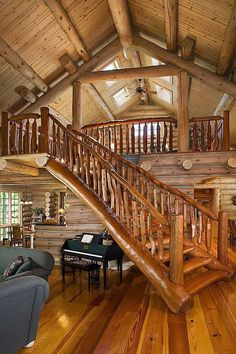 15 Examples of Wonderful Rustic Home Interior Designs #RealLogHomes #loghomeinteriorsdecorating