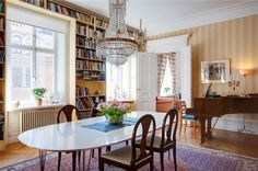 piano, books.....love this room!