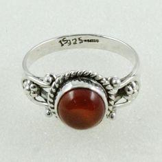 GENTLE BEAUTY !! Carnelian Stone 925 Sterling Silver Ring _ Supplier Jaipur by JaipurSilverIndia on Etsy