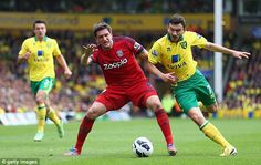 ~ Robert Snodgrass of Norwich City against West Brom ~