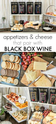 msg 4 21+ | Summer Entertaining: Your favorite Black Box wines with an appetizer and cheese pairing that are perfect for pot lucks and wine tastings. #SummerToGo #BlackBoxWines #ad
