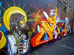 #Jesus and #graffiti rocks !!