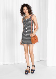 & Other Stories | Stripe Button Dress