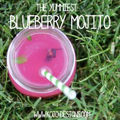 the best blueberry mojito recipe (and how to make a whole pitcher-ful)