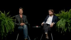 Brad Pitt Spits Gum at Zach Galifianakis During an Interview on 'Between Two Ferns'