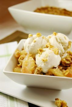 The Kitchen is My Playground: Pear-Walnut Crisp.  Something to do with the pears Don canned!