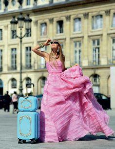 The Dramatic Vow: I swear to Always travel in style.---Oscar De la Renta